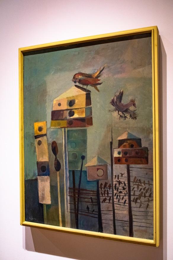 Bird Houses, 1950s, Robert C. Smith Retrospective Exhibit Opening, Des Lee Gallery, St. Louis, MO