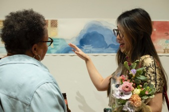 4.26.2019--The Sam Fox School of Design & Visual Arts MFA First-Year Exhibition, Group 1 was held at Des Lee Gallery in downtown St. Louis. Photo by Whitney Curtis/WUSTL Photos