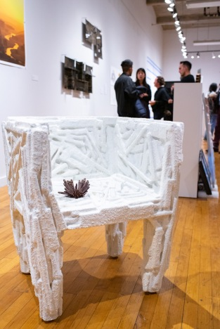 """""""Salt Chair, 2017 by Amy Hauft"""" at the """"Decoys and Depictions: Images of the Digital"""" Exhibition at the Des Lee Gallery, Washington University, St. Louis, MO"""